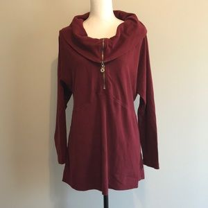 Soft surroundings cowl neck top size Large